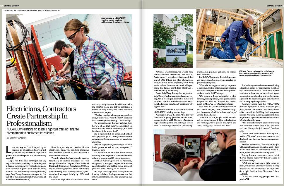 NECA/IBEW Local 48 in Oregon Business Magazine