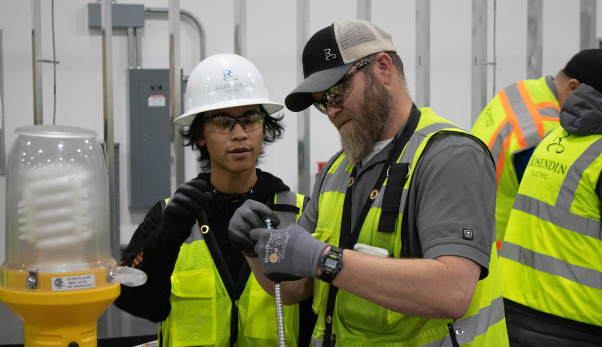 Rosendin Electric Partners with School to Career Program, teaches Students about Electrical Industry